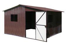3x2,5m RAL8017 Mehrzweck Schuppen Blechgarage Garage Fertiggarage Metallgarage