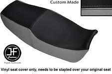 BLACK & GREY VINYL CUSTOM FITS KAWASAKI ZX GPZ 1100 E 95-98 DUAL SEAT COVER ONLY