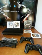 PS3 CECH4201A 80GB (upgraded) Super Slim Console 2 Wireless Controllers/5Games