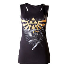 The Legend of Zelda Ladies Tank Top Gold Logo Size M Bioworld Merchandising