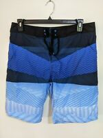 Target Men's Board Shorts Size 36 Blue Stripe Swim