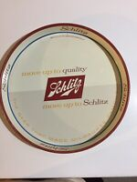 """Schlitz """"Move Up To Quality Move Up To Schlitz""""~Vintage~1958~12""""~Serving Tray"""