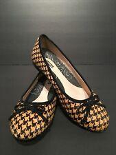 Propet Checkered Horse Hair Ballet Flats Size 9.5 Women's Slip On Loafer