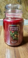 New Yankee Candle 22 oz Large Jar, Red Apple Wreath, Red