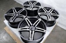 "17"" Wheels Fit Kia Sedona Soul Forte Sonata Civic Accord Fusion Black Rims 5 Lug"
