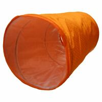 Cat Kitten Hide and Seek Collapsible Pop Up Orange Play Tunnel