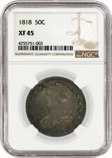1818 50C Capped Bust Silver Half Dollar NGC XF45