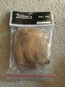 "Doll Wig Size 11"" Style 823 Color K26 Dark Blond Short Bangs Long Hair NOS Talli"