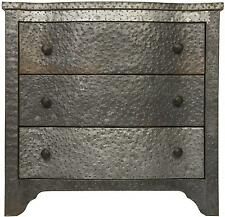 "30"" Long Melisande 301 Metal Small Chest Solid Metal/Wood Zinc Finish"