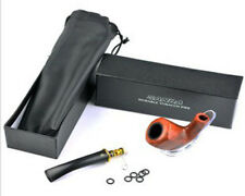 SANDA DURABLE TOBACCO PIPE WITH EXTRA SEALS, DETACHABLE MOUTH PIECE AND CASE