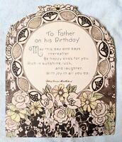 Vintage Father's Birthday Card, Dated October 31, 1932, 1930s Poem, Used