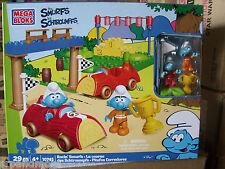 Mega Bloks Smurfs 'Racin' smurfs' Building Playset-New in Packaging