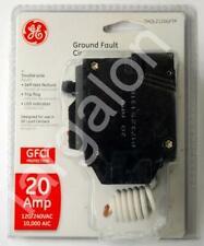 GE GFCI 20A 2 Pole Circuit Breaker THQL2120GFTP NEW
