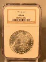 1904 (New Orleans Mint) Morgan Silver Dollar (NGC MS 66)