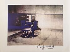 MORTALITY ANDY WARHOL HAND SIGNED SIGNATURE * ELECTRIC CHAIR *  PRINT  W/ C.O.A.