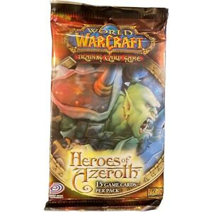 (1) 2012 World Of Warcraft TCG Heroes of the Azeroth15 Card Booster Pack
