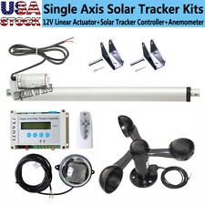 """Solar Tracker Lcd Single Axis Tracking System + 14"""" Linear Actuator + Anemometer"""