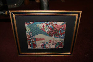 Antique Vintage Asian Persian Middle Eastern Batik Tapestry-#13-Religious Men
