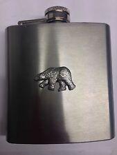 Polar Bear PP-A08 English Pewter 6oz Stainless Steel Hip Flask