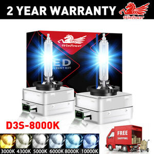 2x D3R D3S Xenon HID Headlight bulb 8000K light Replace for Philips OEM Lamps US