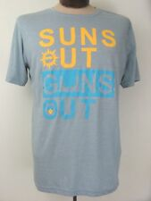 Sun's Out Guns Out Wildman Next Level XL Graphic T Shirt with 45s in Sky Blue