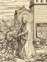 LEONHARD BECK GERMAN SAINT BRIGITTA OLD ART PAINTING POSTER PRINT BB6025A