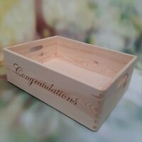 Wooden Confetti Tray Apple Crate Storage Box Personalised Open Non- Lided Veggie
