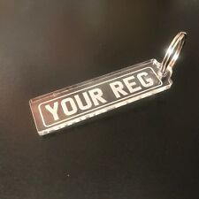 Numberplate Nameplate Reg Personalised Keyring Made To Order Show Plate