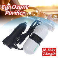 Car Air Purifier Freshener Portable Oxygen Bar Ozone Negative Lonizer Cleaner AU