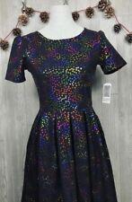 Brand New with Tags LuLaRoe Amelia Elegant Mermaid Rainbow Unicorn Dress Size XS