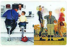 Norman Rockwell RUNAWAY & COIN TOSS-3D Motion Lenticular Postcard Greeting Card