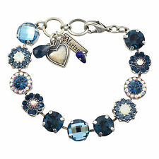 "MARIANA ""Mood Indigo"" Silver Plated Tennis Bracelet, 8"" 4084 1069"