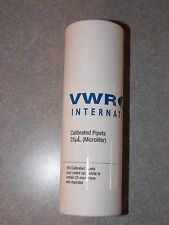 VWR CALIBRATED PIPETS 25UL (MICROLITER) QTY 250 NEW SEALED
