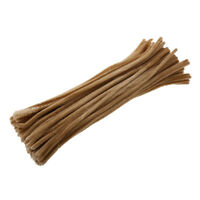 100pcs Chenille Stems Pipe Cleaners Plush Twist Rods DIY Hand Crafts Brown