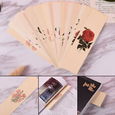 30pcs/lot Chinese Style Paper Bookmark Vintage Flower Book Mark For School *Q