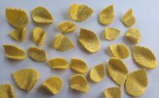 12 edible GOLD LEAVES LEAF cake topper decoration CUPCAKE wedding harvest rose