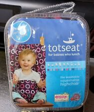 Totseat For Babies Who Lunch - The Washable Squashable Highchair BN RRP£30