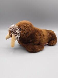 "Dakin Walrus Beanbag Plush Vintage 1975 Stuffed Animal Sea Cow Toy 9"" Korea"