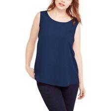 Faded Glory Women's Plus Woven Tank Top Blouse Indigo Essence Size 18/20w 2x