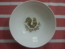 """Vintage Taylor Smith And Taylor Bonnie Green Rooster 9"""" Salad/Pasta Bowl"""