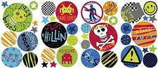 BOYS POLKA DOTS WALL DECALS 41 Red Blue Green Spots Stickers Boy Bedroom Decor