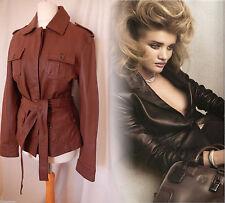 Jacket Coat Vintage Leather Tan Aviator 50's 60's 70's Retro Trench 12 40 US 8