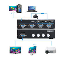 4-port VGA Video Audio Switch Switcher Box 4 in 1 Out PC Monitor Sharing