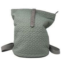 Win&Co Quilted Backpack Green Bucket Bag Purse Versatile Travel Comute Fashion