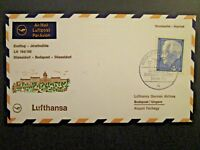 Germany 1968 Dusseldorf - Budapest Flight Cover - Z4632