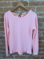 NEXT WOMENS NEON PINK SWEATER WITH TIE BACK SIZE: XS BNWT RRP £26