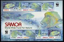 Samoa MNH 2006 WWF - Fish. Humphead Wrasse M/S