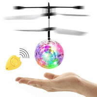 1 Pcs Flash Flying Ball Infrared Induction Colorful LED RC Helicopter Toy Cool