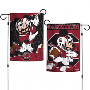 """South Carolina Gamecocks NCAA Mickey Mouse Garden Flag Licensed 2Sided 12.5""""x18"""""""