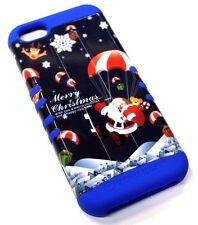 for iPhone 5c Christmas Snowflakes Gifts Hard &Soft Rubber Hybrid Koolkase Case
